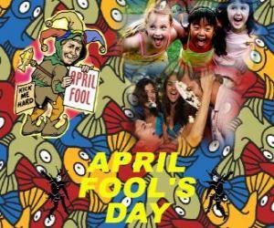 puzzel 1 aprilgrap gevierd op 1 april grappen gewijd aan de in veel landen