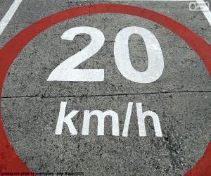 puzzel 20 km/h-zone