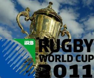 puzzel 2011 Wereldkampioenschap rugby. Het is gevierd in Nieuw-Zeeland van 9 september-23 oktober