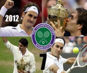 puzzel 2012 Wimbledon kampioen Roger Federer