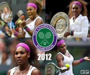 puzzel 2012 Wimbledon kampioen Serena Williams