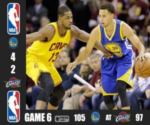 puzzel 2015 NBA de finale, spel 6