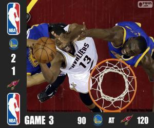 puzzel 2016 NBA de finale, spel 3