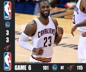 puzzel 2016 NBA de finale, spel 6