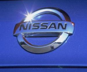 Nissan Logo Japans Automerk Puzzel Printen