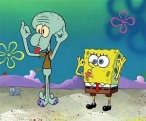 puzzel SpongeBob SquarePants en zijn vriend, Octo Tentacles