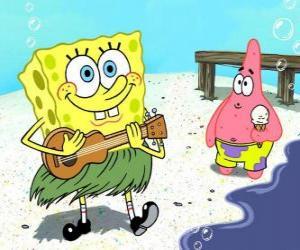 puzzel SpongeBob in Hawaii