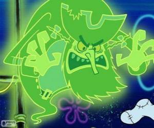 puzzel De Vliegende Hollander is een piraat spook dat onder water leeft in een gigantisch schip