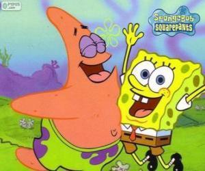 puzzel SpongeBob en Patrick erg blij