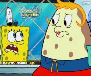 puzzel SpongeBob en Mevrouw Puff