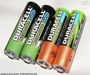 puzzel AA batterijen