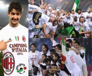 puzzel AC Milan, de Italiaanse voetbalbond League kampioen - Lega Calcio 2010-11
