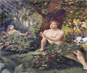 puzzel Adam en Eva in het paradijs