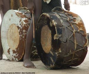 puzzel Afrikaanse drums
