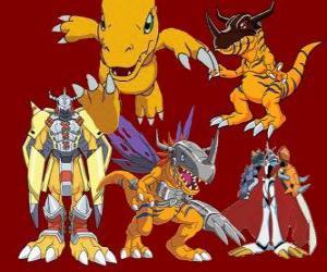 puzzel Agumon is een van de belangrijkste Digimon. Agumon is een zeer moedig en leuk Digimon