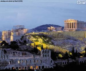puzzel Akropolis van Athene, Griekenland
