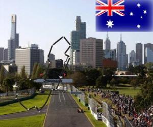 puzzel Albert Park Circuit - Australië -