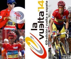 puzzel Alberto Contador, kampioen van de ronde van Spanje 2014