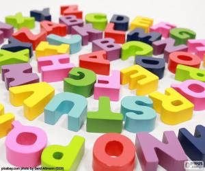 puzzel Alfabet in spiraal