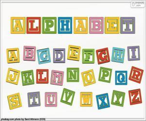 puzzel Alfabet van kleuren