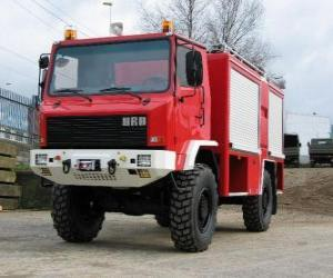 puzzel all-terrain brandweerwagen