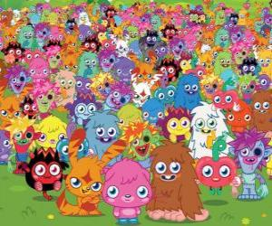 puzzel Alle monsters van Moshi Monsters