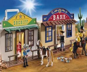 puzzel Amerikaanse West Playmovil