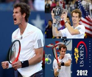 puzzel Andy Murray 2012 US Open Kampioen