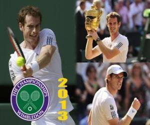 puzzel Andy Murray kampioen Wimbledon 2013