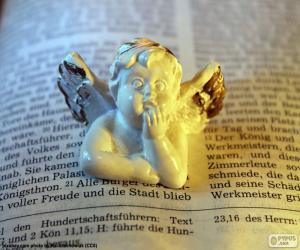 puzzel Angel en Bijbel