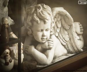 puzzel Angel met gekruiste armen