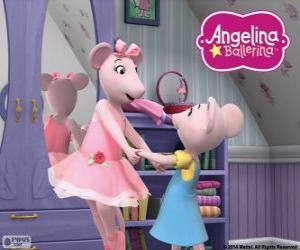 puzzel Angelina Ballerina en zijn geliefde zuster Polly