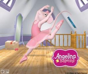 puzzel Angelina Ballerina houdt van de dans
