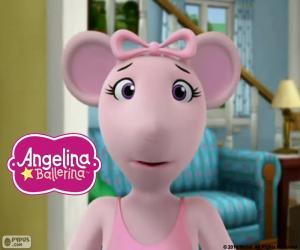puzzel Angelina Ballerina's gezicht