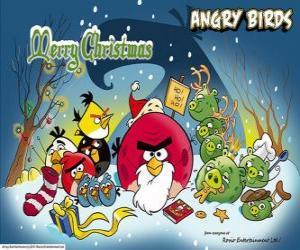 puzzel Angry Birds wensen u een vrolijk kerstfeest