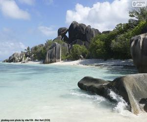 puzzel Anse Source D'Argent, Seychellen