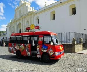 puzzel Antigua City Tour, Bus