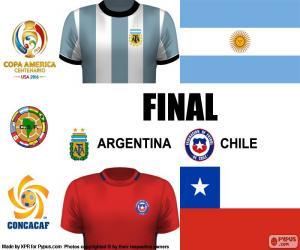puzzel ARG-CHI Finale Copa America 2016