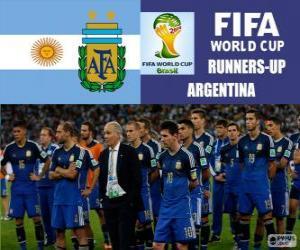 puzzel Argentinië 2e ingedeeld van de Brazilië 2014 Football World Cup