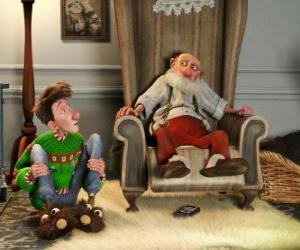 puzzel Arthur Christmas met zijn grootvader