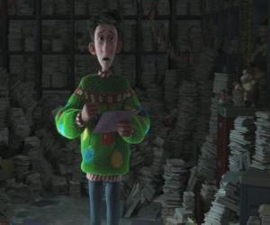puzzel Arthur Christmas omgeven door duizenden brieven