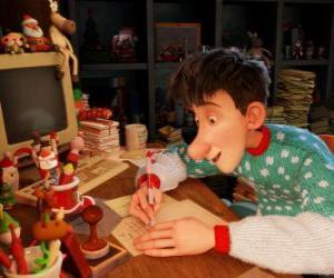puzzel Arthur Christmas, verantwoordelijk voor het beantwoorden van brieven van alle kinderen van de wereld