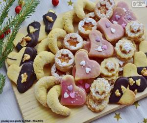 puzzel Assortiment van kerstkoekjes