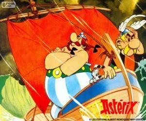 puzzel Asterix en Obelix, twee vrienden zijn de protagonisten van de avonturen van Asterix de Galliër