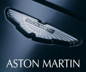 puzzel Aston Martin-logo, Britse autofabrikant