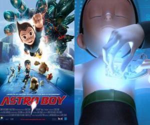 puzzel Astroboy of Astro Boy, een super-robot gemaakt door Dr Tenma in het beeld van zijn dode zoon Toby en zijn herinneringen