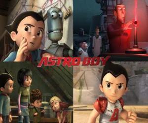 puzzel Astroboy of Astro Boy, met vrienden