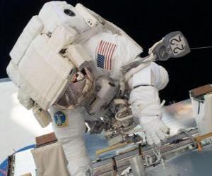 puzzel Astronaut in de ruimte