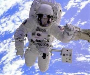 puzzel Astronaut ruimtemissie