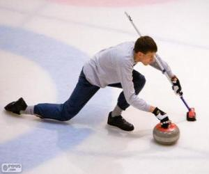 puzzel Athlete curling